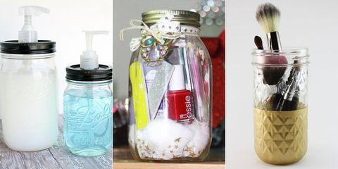 Beauty Organizing DIYs Using Mason Jars