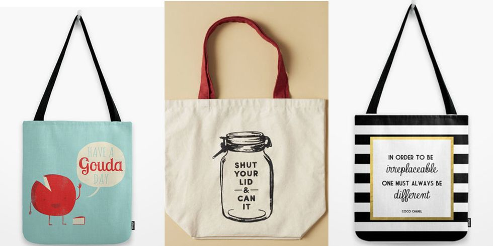 Tote Bags With Quotes , Reusable Bags With Funny and Smart