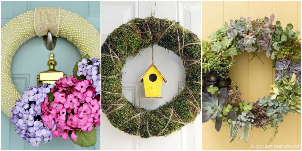 Courtesy of bloggers & 15+ DIY Spring Wreaths - Ideas for Spring Front Door Wreath Crafts