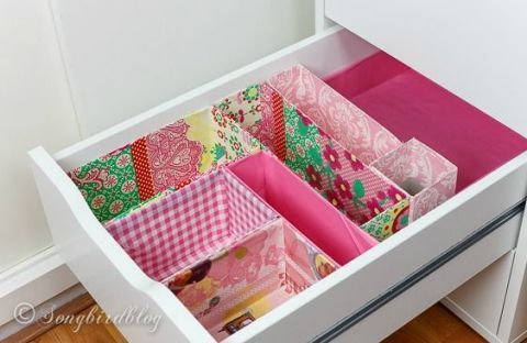 Pretty Junk Drawer Bins