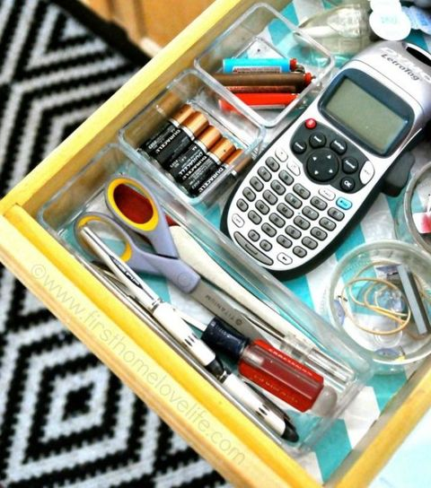 Junk Drawer Clear Bins