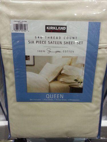 Kirkland Signature 540 Tc Supima Cotton Sa Weave Sheets