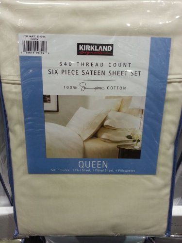Kirkland Signature 540 TC Supima Cotton Sateen Weave Sheets