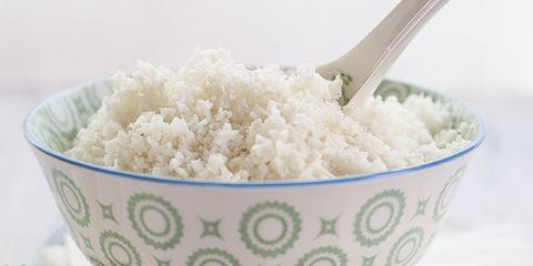 Made too much rice? Store it in a freezer-proof container and pop it in the freezer until you need it. When you're ready to eat it again, add the amount you want to a microwave-safe bowl or saucepan with a few tablespoons of water to warm it back up.