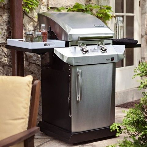 Barbecue grill, Machine, Kitchen appliance accessory, Gas, Pillow, Throw pillow, Outdoor grill, Waste container, Cooking, Aluminium,
