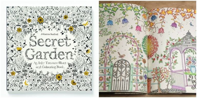 This is a photo of Striking coloring books secret garden