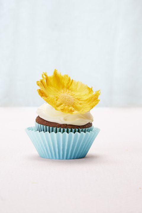Pineapple Flower Cupcake