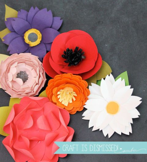 Diy paper flowers paper flower crafts image mightylinksfo