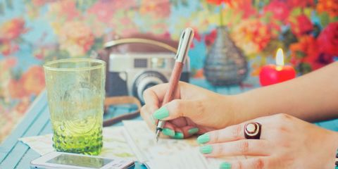 writing in a food journal