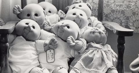 Details about  /Little Doll Baby Heads//Hands Lot Martha Nelson 1985 Girl Pigtails Cabbage patch