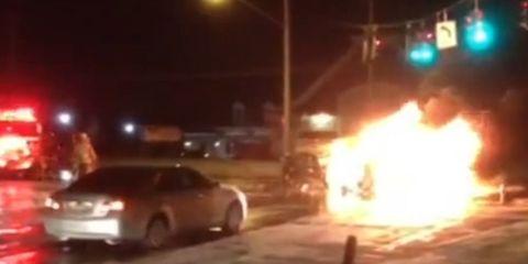 Terri Fontanez's Burning Van