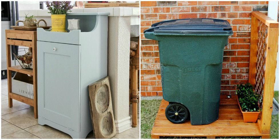 How To Hide A Trash Can Disguise Ugly Garbage Can