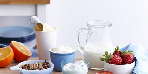 table of breakfast foods