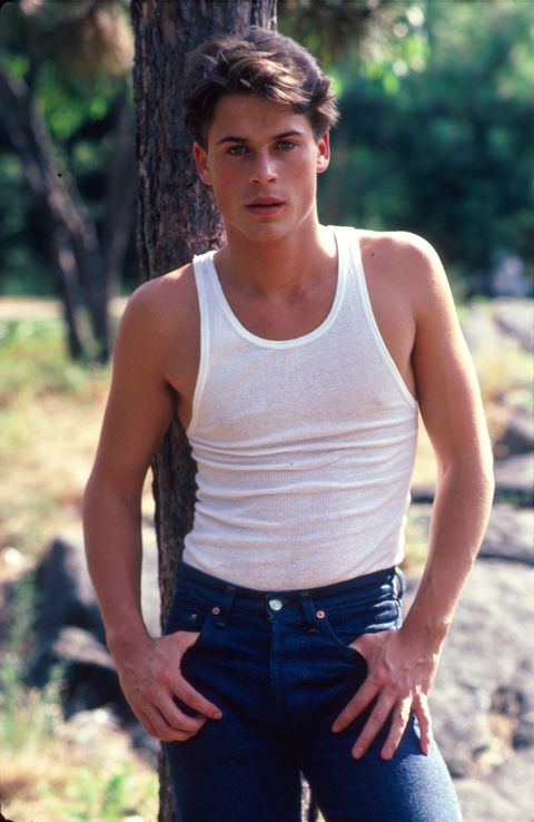 Human body, Trousers, Denim, Shoulder, Jeans, Chest, Undershirt, Mammal, Sleeveless shirt, People in nature,