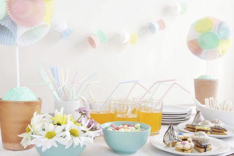 Serveware, Dishware, Cuisine, Food, Pink, Party supply, Tableware, Sweetness, Flowerpot, Dish,