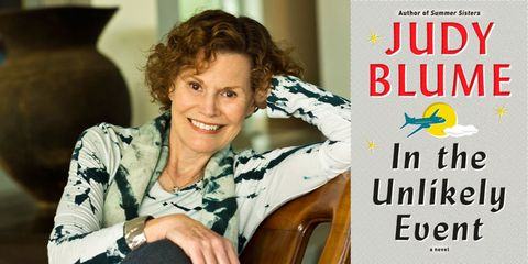 judy blume in the unlikely event book cover new