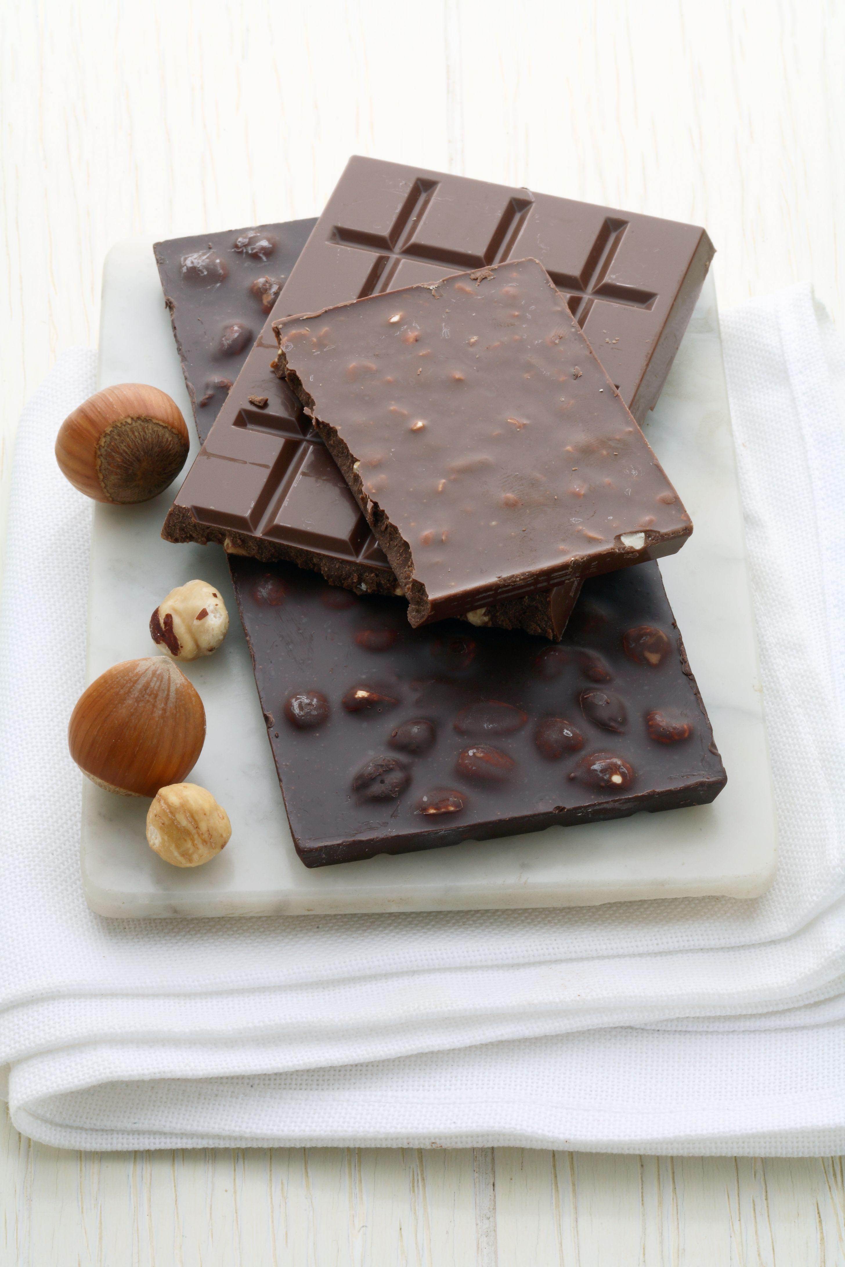 bars of milk chocolate and dark chocolate
