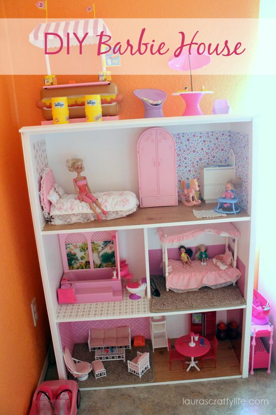 Pink Dollhouse DIY Project To Build