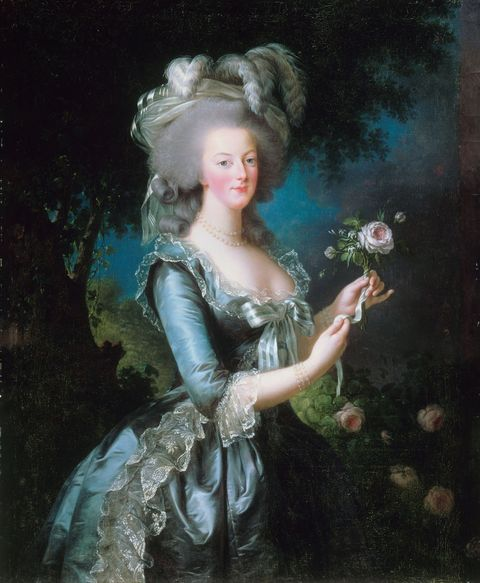 Portrait of Marie Antoinette by Marie Louise Elisabeth Vigee-Lebrun, oil on canvas, 1783