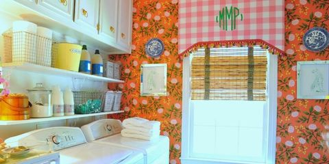 Colorful Laundry Room