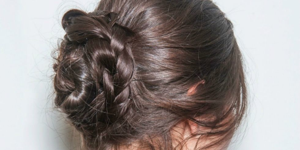 How To Make A Braided Bun Easy Braided Hairstyle In Less Than 60