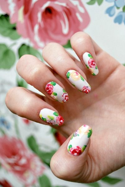 25 Flower Nail Art Design Ideas - Easy Floral Manicures for Spring and  Summer - 25 Flower Nail Art Design Ideas - Easy Floral Manicures For Spring