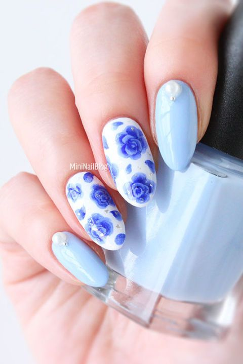 25 Flower Nail Art Design Ideas Easy Floral Manicures For Spring