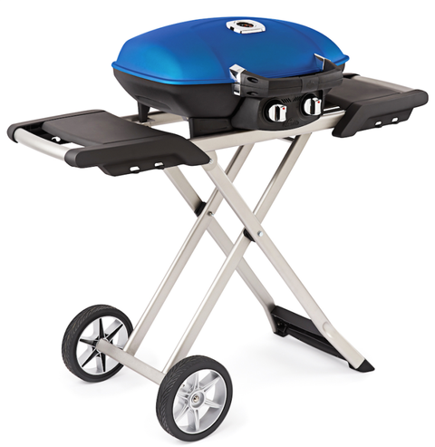 "This compact mini folds up for easy storage and traveling, yet can handle 16 big burgers and has two side tables. Hook it up to a one-pound tank&#x3B; it turns on just like a gas range. (<em>$400, <a target=""_blank"" href=""http://www.bbqguys.com/item_item_2887644.html?utm_source=Google&amp&#x3B;utm_medium=shopping-campaign&amp&#x3B;utm_term=2887644&amp&#x3B;kpid=2887644&amp&#x3B;gclid=CMvOmtmn08UCFUUXHwod71cA-A"">bbqguys.com</a></em>)"