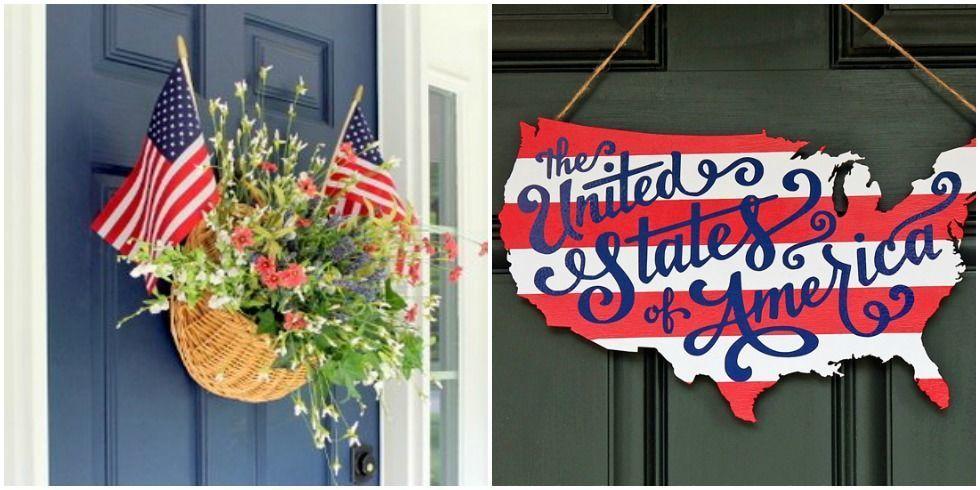 & DIY American Door Decor - Patriotic Door Decorations