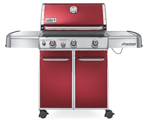 "The winner of our test, this grill cooks up the best BBQ. It has plenty of grill space (room for 28 burgers), a side burner for warming sauce, a fuel gauge, and tons of storage below. Plus, it comes in five colors. (<em>$800, <a target=""_blank"" href=""http://www.homedepot.com/p/Weber-Genesis-E-330-3-Burner-Propane-Gas-Grill-in-Black-6531001/202830392?N=5yc1vZc5t5Z1ls"">homedepot.com</a></em>)"