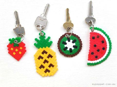 Perler Bead Key Chains