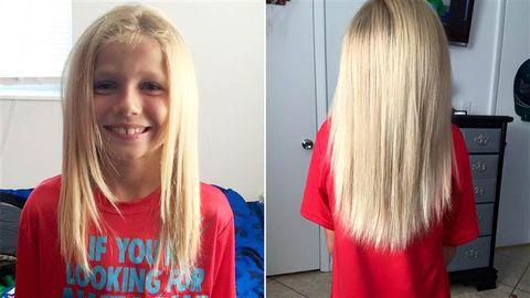 Little Boy Donates Hair