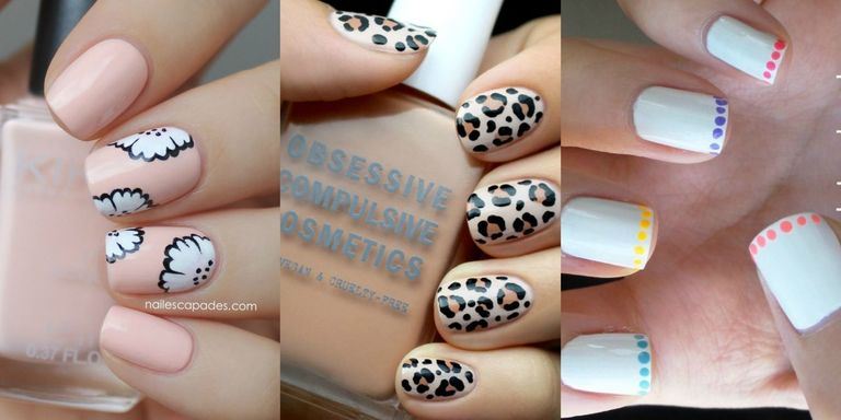 These subtle and bold designs are for you. - Nail Art Ideas For Short Nails - Manicures Designs For Shorter Nails
