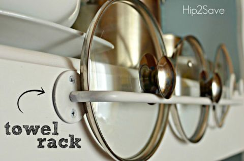 Towel Bar Pot Rack