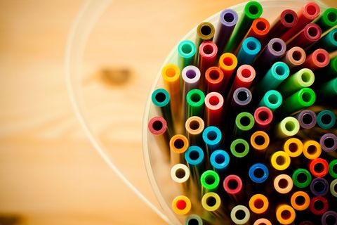 """<a target=""""_blank"""" href=""""http://www.goodhousekeeping.com/home/cleaning/tips/a26902/new-uses-toothpaste/"""">Toothpaste</a> will erase marker stains from wood — a handy trick to have in your back pocket if you've got creative kids."""