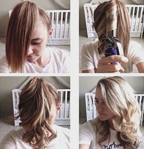 How To Quickly Curl Your Hair Ponytail Curling Trick