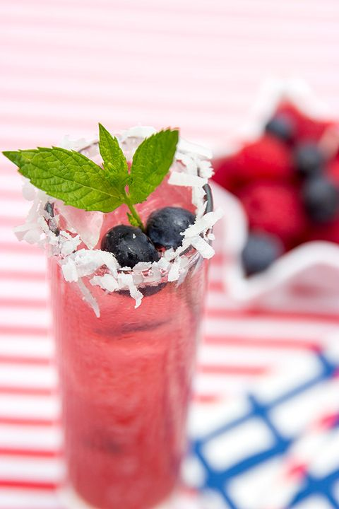 Blueberry Coconut Sparklers