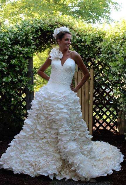 Toilet Paper Wedding Dress Winners Of 2015 Best Diy Wedding Dresses