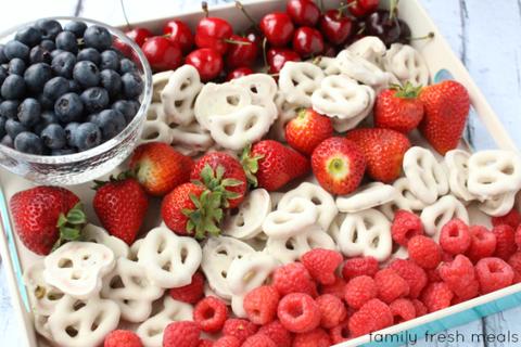 Flag Fruit Dessert