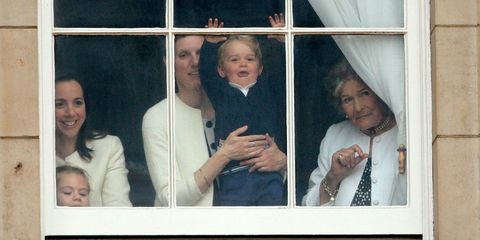 Prince George and Nanny at Window