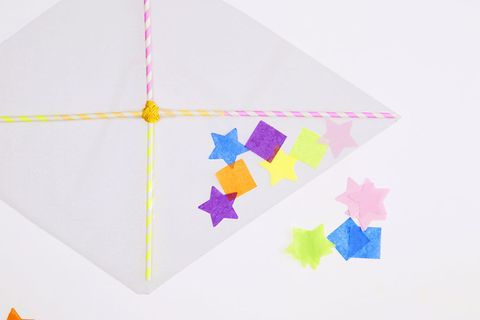 How to make a wrapping paper kite | Canadian Living | 320x480