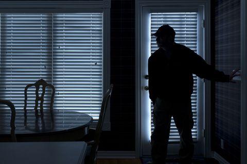 burglar in dining room