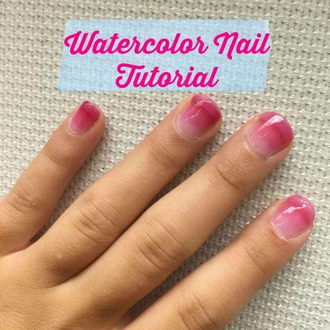 Watercolor Nails Tutorial How To Do Watercolor Nail Art