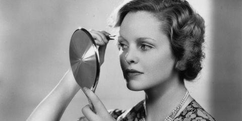 Lip, Hairstyle, Eyebrow, Eyelash, Style, Beauty, Photography, Kitchen utensil, Monochrome photography, Portrait photography,