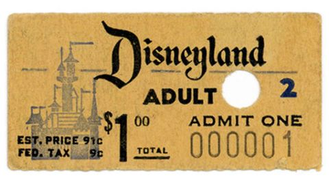 Disneyland first ticket
