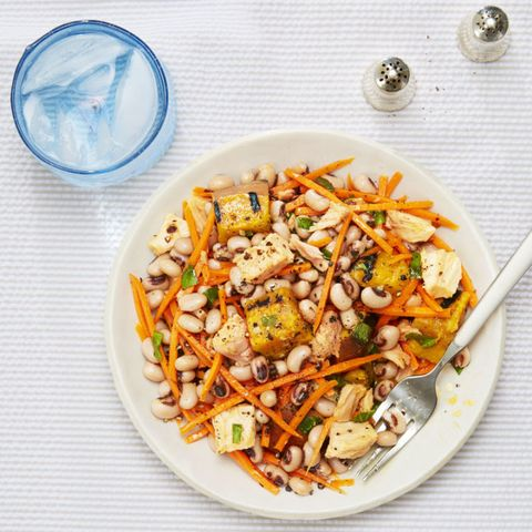 Summer Tuna Salad with Sweet Potato and Basil - Healthy Lunch Ideas