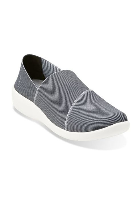 "<p>Flip-flops and ballet flats with no support simply won't cut it when you're chasing kids. Luckily, slip-ons that are both chic <em>and</em> comfortable — with good cushion and arch support — do exist. Thank you, Clarks cute and casual Cloud Steppers. <em>$85, </em><a href=""http://www.clarksusa.com/us/cloudsteppers/cloud-steppers/Sillian-Firn-Black-Multi-Synthetic/p/26113083"" target=""_blank""><em>ClarksUSA.com</em></a> </p><p><br></p>"