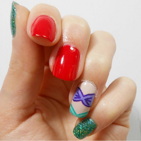 The Little Mermaid Nail Art