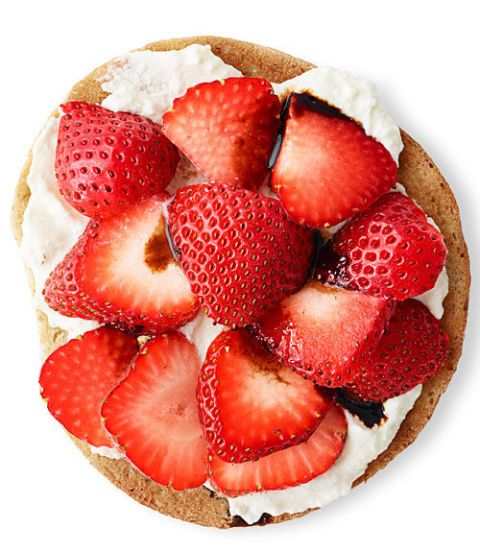 """<p>This ricotta spread tastes like a cannoli, which more than makes up for the fact that you have to turn on your toaster (which doesn't really count as cooking).</p><p><a href=""""http://www.goodhousekeeping.com/food-recipes/a11880/sweet-ricotta-strawberry-recipe-ghk0913/""""><em>Get the recipe »</em></a><br></p><p><br></p>"""