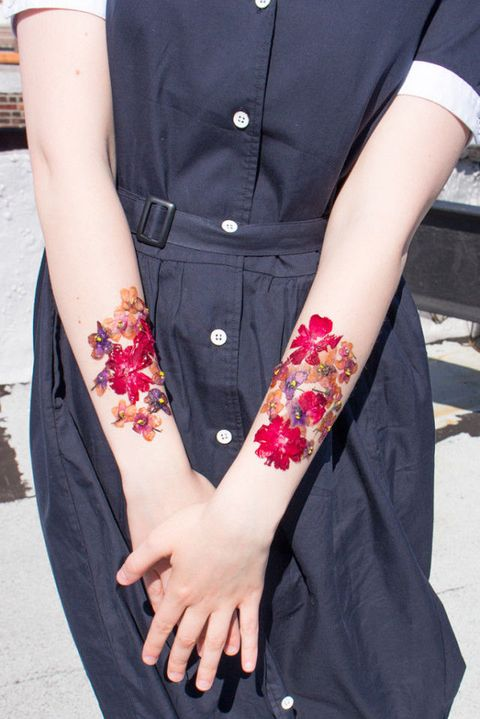 how to make temporary dried flower tattoos emily geraghty blogger